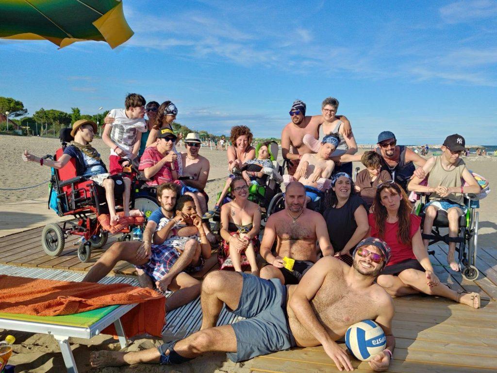foto di gruppo al mare